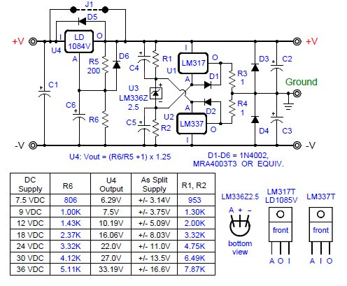 Virtual Ground Circuits from Voltage Regulators
